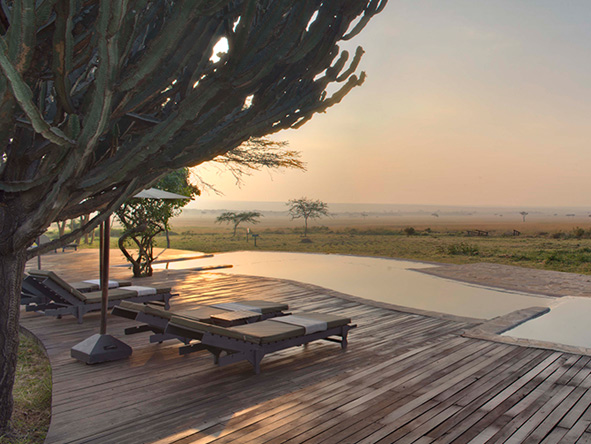 Kichwa Tembo Tented Camp, pool deck