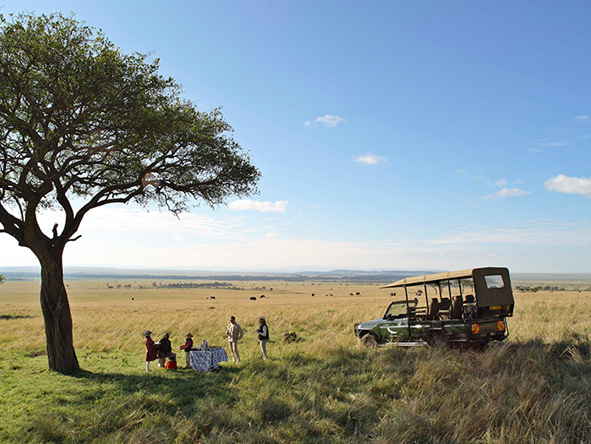 Kichwa Tembo Tented Camp, private safari picnic
