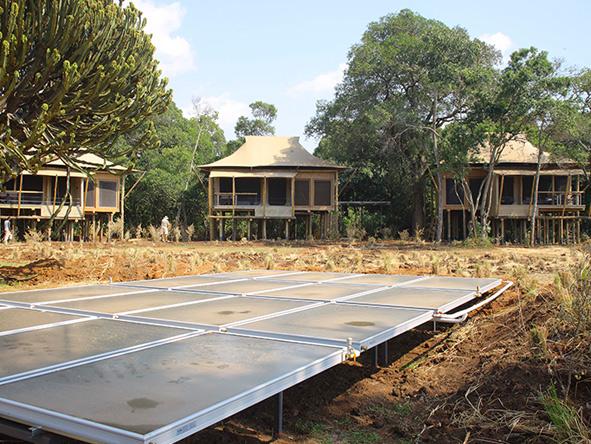 solar panels at Kichwa Tembo