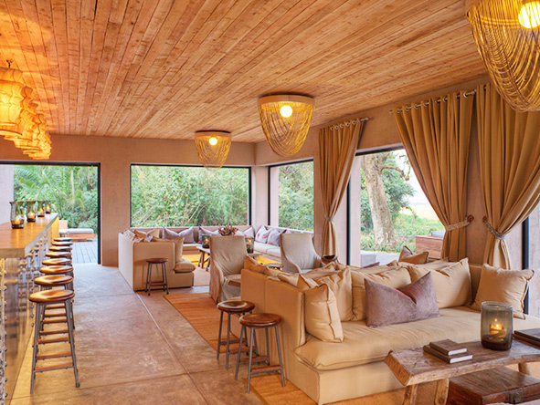 Main lounge at Kichwa Tembo Tented Camp