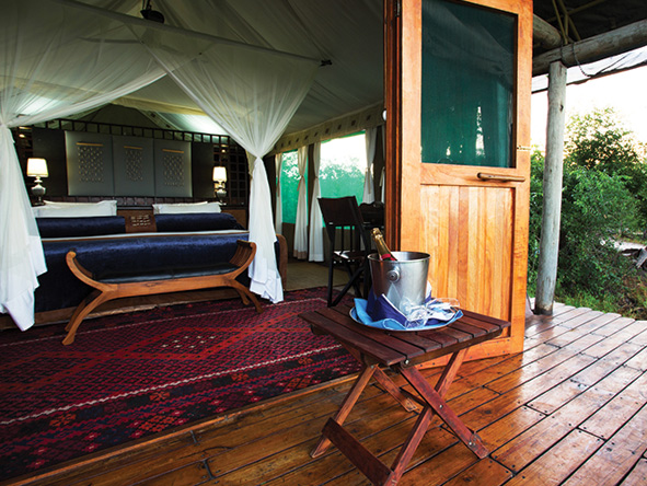 Duba Plains Camp, luxury tent