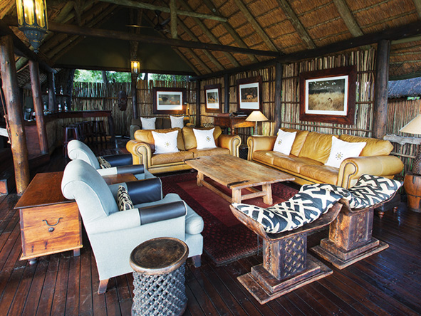 classic African decor at Duba Plains Camp