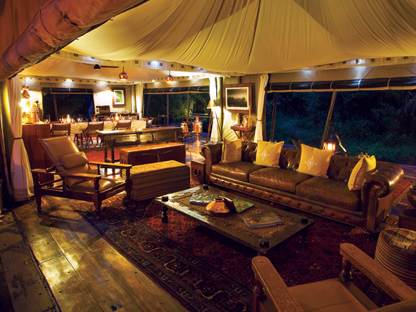Zarafa Camp, luxurious interiors
