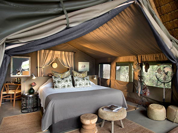 luxurious tented suites at Tanda Tula Safari Camp
