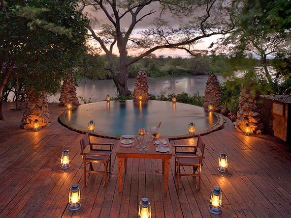 Grumeti Serengeti Tented Camp, romantic dinner