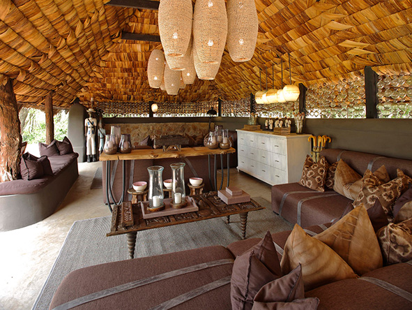 Grumeti Serengeti Tented Camp, classic African safari decor