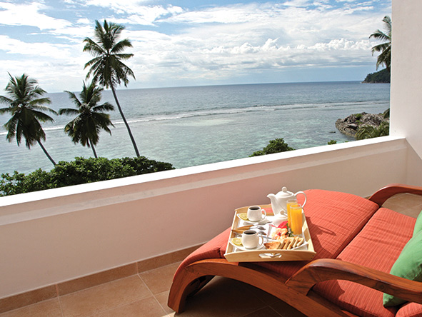 Balcony views at the DoubleTree by Hilton Seychelles