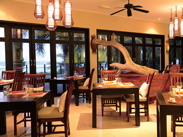 Dining area at Allamanda Resort and Spa, Seychelles