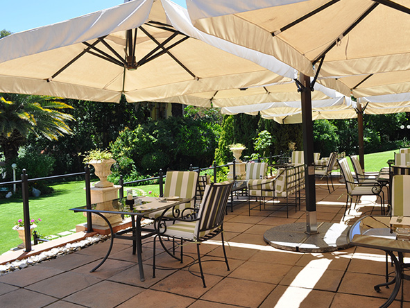 The terrace at Fairlawns Boutique hotel