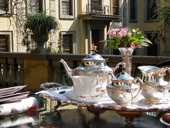 High tea on the terrace, Fairlawns Boutique Hotel