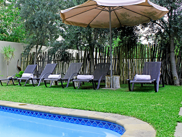 Pool at Elegant Guesthouse, Windhoek
