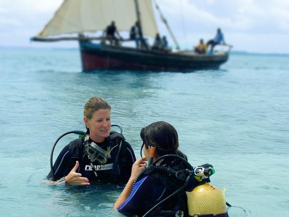 Diving instructors in Zanzibar