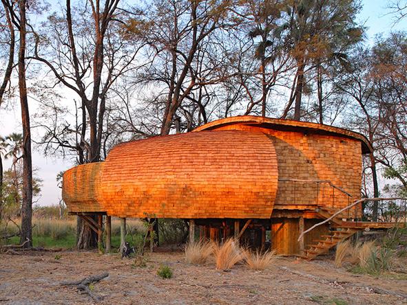 Wooden camps, Sandibe Okavango