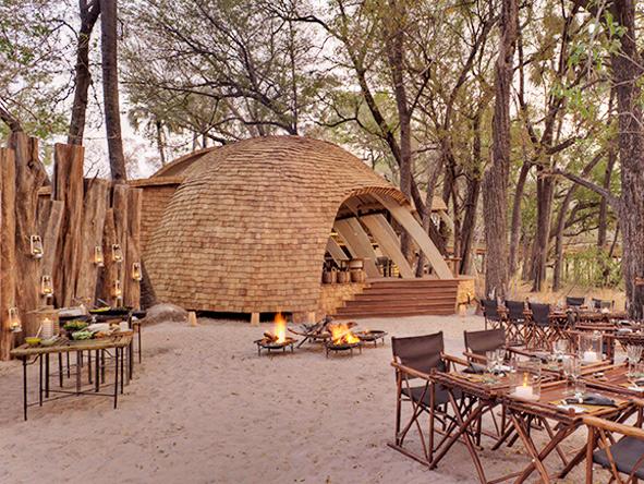 Outdoor dining, Botswana