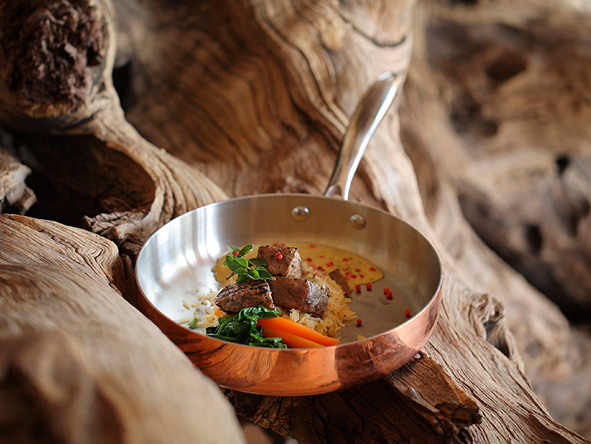 world class food at Sandibe Okavango Safari Lodge