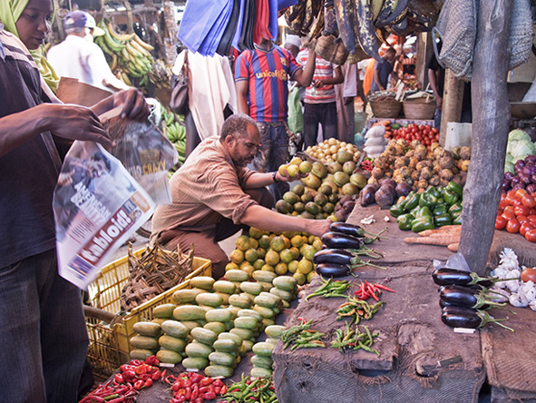 Zanzibar vegetable market