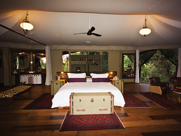luxury tented suite, Mara plains camp