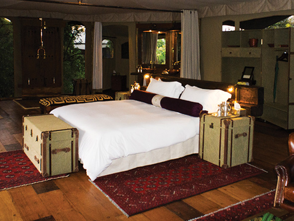 authentic safari decor at mara plains camp