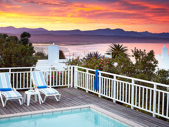 The plettenberg, sunset at the pool