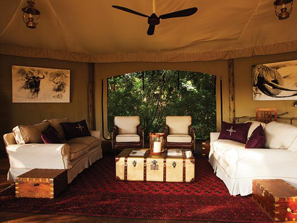 Mara Plains Camp, tented safari suite