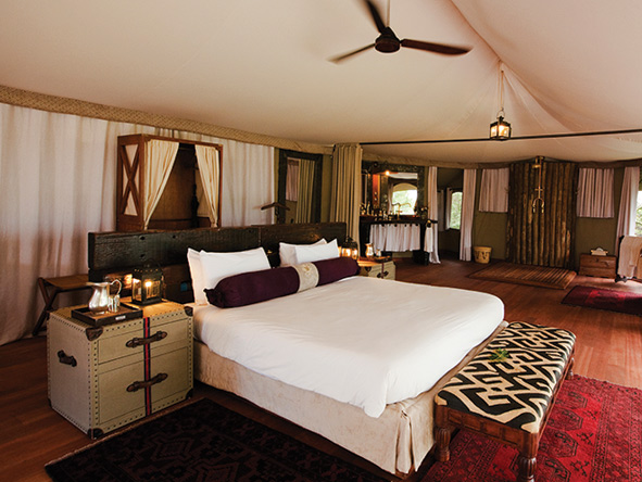 Mara Plains, luxury bedroom suite