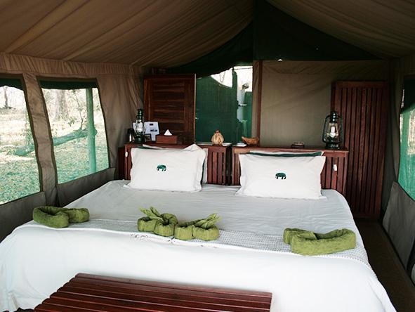 ensuite tent, Kwara Camp