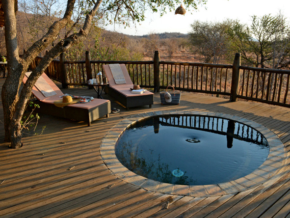 Etali safari lodge, private suite and deck