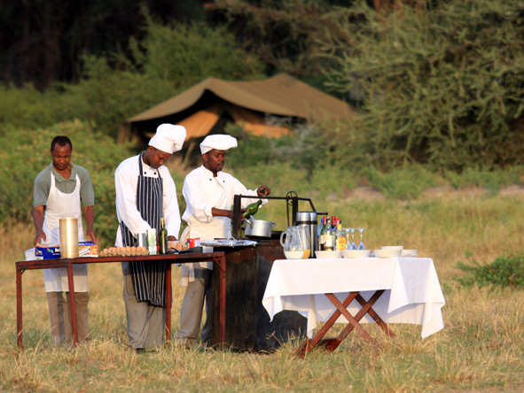 Breakfast in the Serengeti
