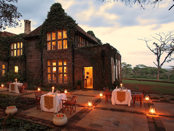 The Giraffe Manor, sunset dinner