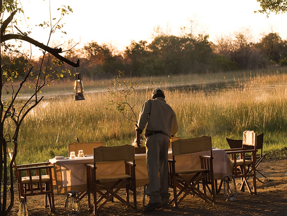Outdoor dinner, Botswana