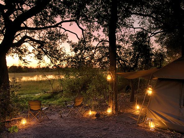 Safari tent, Okavango Delta