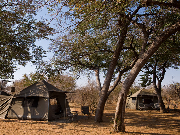 luxury tents, Botswana
