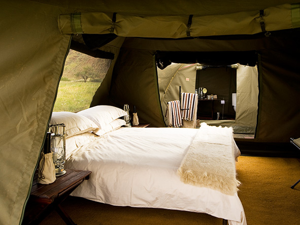 Private, luxury tents