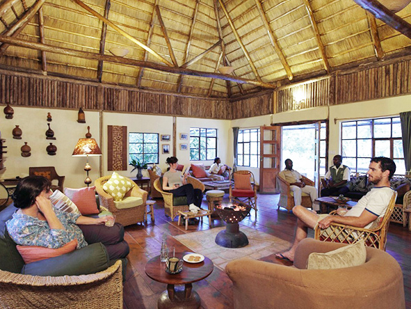 Volcanoes Bwindi Lodge, main lounge