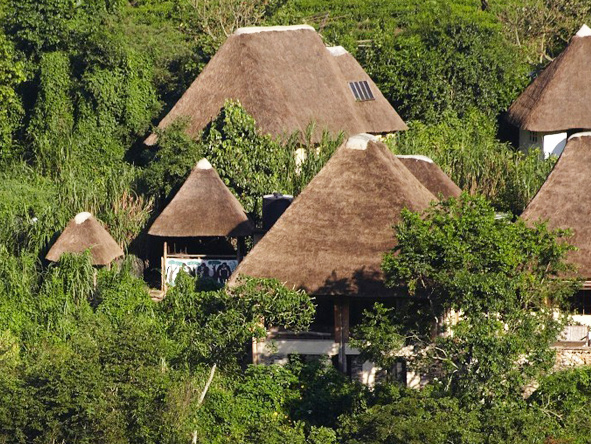 Volcanoes Bwindi Lodge, thatched suites