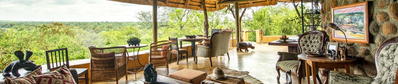 Outdoor lounge - Motswari Geiger Camp