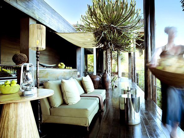 Singita Sweni, outdoor deck