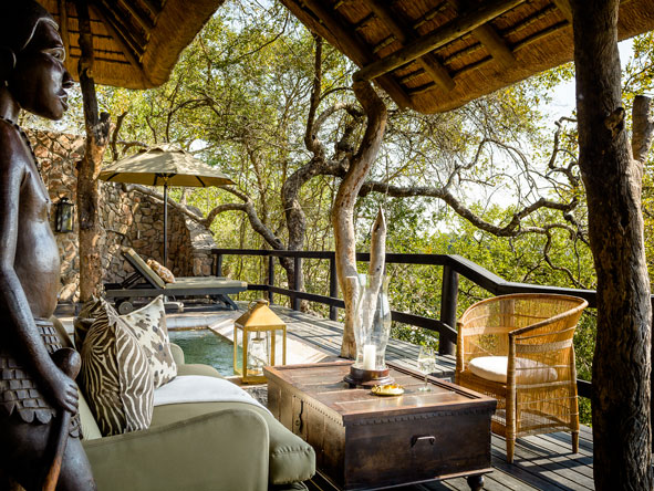 Singita Ebony Lodge, private suite