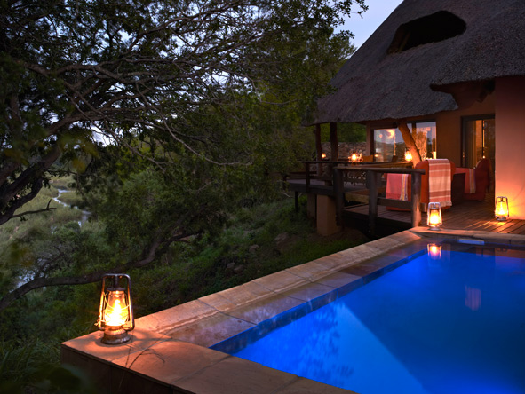 Private plunge pool at Singita Ebony Lodge