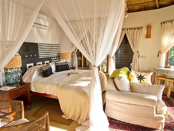 Tongabezi Lodge, bedroom suite