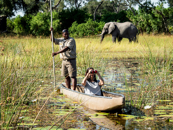 A private guided excursion through the Okavango Delta is one of the best ways to get a real experience of this Botswana jewel.