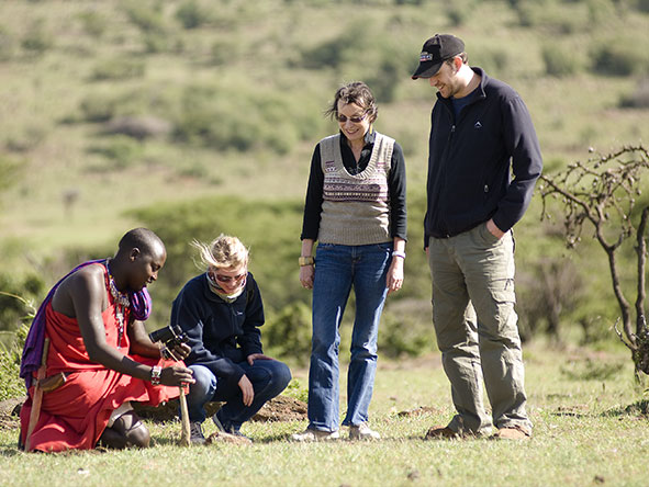 The Maasai guides know the land exceptionally well, and are able to provide a unique insight.