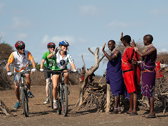 Discover the adventurous side of Amboseli National Park with a private guided mountain bike through the reserve and villages.