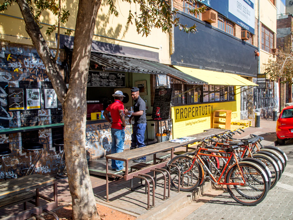 Maboneng is a culturally diverse, trendy and up-and-coming neighbourhood.