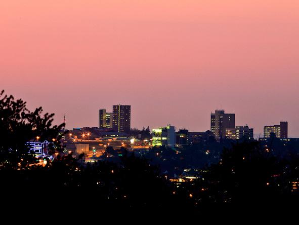 The Joburg skyline.