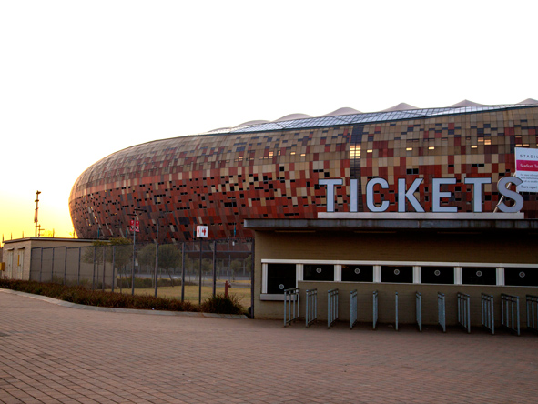 Famous Soccer City was the largest stadium build for the 2010 Soccer World Cup, and is based in Soweto.