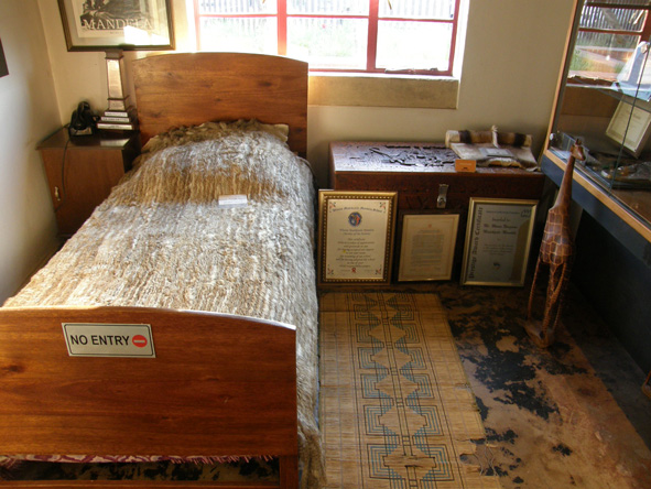 One of the bedrooms in Mandela House, a memorial to the Mandela family on Vilakazi Street in Soweto.