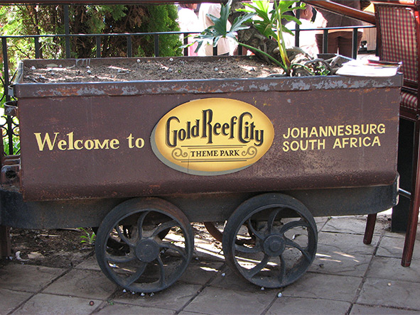 Gold Reef City is Johannesburg's biggest theme park, and is modelled on the gold mines.