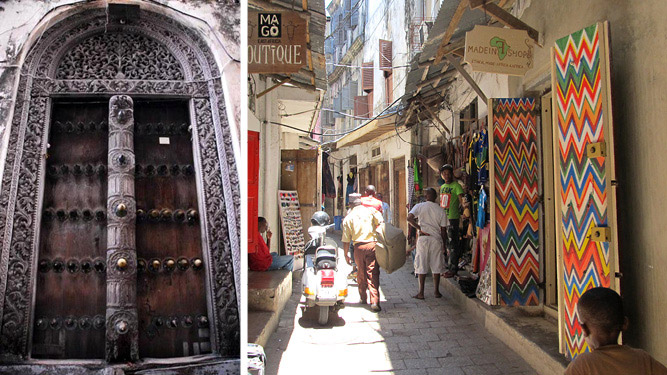 Exploring Stone Town - doors & street