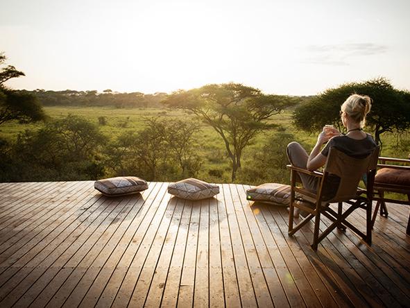 Sunset overlooking Tarangire wilderness